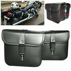 Black PU Leather Side Saddle Bag Fit Suzuki Boulevard M109R M50 M90 C109R C50