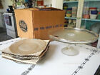 Plate Set 22kt Gold Trim Original Box