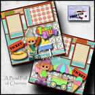 TICKET 2 FUN 2 premade scrapbook pages paper piecing layout VACATION CHERRY