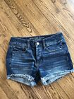 American Eagle Tom Girl Button Fly Jean Shorts size 2