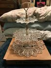 3 Tier Candy Dish Glass Vintage