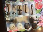 ANTIQUE PORCELAIN, CLEAR GLASS And CAST IRON DOOR KNOBS