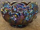 Fenton Art Glass Amethyst Carnival Lily Of The Valley Rose Bowl