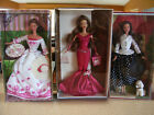 BARBIE BEAUTIFUL BRUNETTES TALK OF THE TOWN*BIRTHDAY WISHES*VICTORIAN TEA NRFB