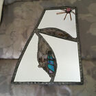 Southwestern Pueblo Native Stained Glass Mirror Handcrafted Hanging 12 by 95