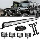 52inch 924W LED Light Bar+2x 18W Pods+ Mount Bracket Fit For Jeep Wrangler JK 50