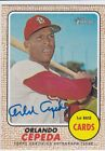 ORLANDO CEPEDA 2017 TOPPS HERITAGE REAL ONE SIGNATURE AUTO SP AUTOGRAPH HOF