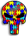 Autism Awareness Punisher skull Sticker Decal 6 Different sizes Truck Windows