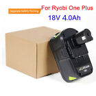 18V 4.0Ah Lithium Ion Battery For Ryobi One Plus P108 P100 P105 P103 P107 UK