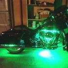 Green 4pc LED Kit Engine Fairing Body Kit Lights Glow Accent Lighting for Harley