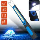 Super Bright COB LED Light Rechargeable Pen Inspection Work Flashlight w/ Hook