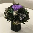 Small preserved rose flower bouquet perfect home office arrangement