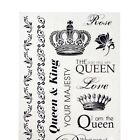 Royal Crown Family Clear Photo Safe Stickers 20 Count
