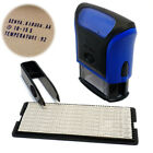 Rubber Stamp Kit DIY Personalized Customized Self Inking Business Address Name