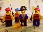Lego pirate minifigures lot. Includes (4)