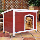 Weather Resistant Dog House Pet Shelter Cage Medium Doggie pet door Home Outdoor