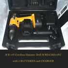 JCB 18V Cordless Hammer Drill JCBD-CHD18VC With Batteries, Charger - Must See PL