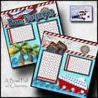 BON VOYAGE cruise vacation 2 PREMADE SCRAPBOOK PAGES paper piecing CHERRY