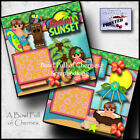 TROPICAL beach vacation 2 PREMADE SCRAPBOOK PAGES paper piecing layout CHERRY