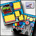 MAGIC MOMENTS vacation 2 PREMADE SCRAPBOOK PAGES paper piecing printed CHERRY