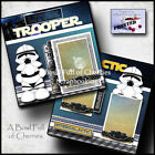 LITTLE TROOPER galaxy star vacation 2 PREMADE SCRAPBOOK PAGES printed BY CHERRY