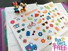 PP336 Summer Time Icons Planner Stickers for Erin Condren 53pcs
