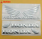 Silver Wing Set Fuel Tank Fairing Badge Emblem Sticker Honda Motorcycle Racing