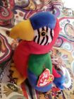 New JABBER The Parrot Ty Beanie Baby Retired Tag Errors Mistakes Spelling