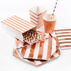 Rose Gold Theme Party Tableware Set Paper Favor Kids Birthday Baby Shower Supply