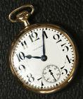 Waltham 645 Railroad Grade Pocketwatch 21J 16s Works Great Very Nice Runs Strong