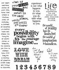 Stampers Anonymous Tim Holtz Cling Stamps 7X85 Stuff 2 Say