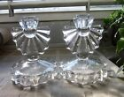 Vintage Indiana Glass Co #1005 candle holders