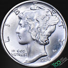 1936  10¢ MERCURY DIME ~ MS SOLID GEM BU ~ #4998BBU1