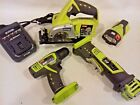 RYOBI CS120 CIRCULAR SAW, CR120, LSD120 DRILL, TORCH & LITHIUM BATTERY CHARGER