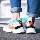 Fashion Lace up Comfort Trainers Running Sports Sneakers Shoes Suede Leather New