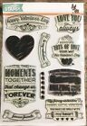 Simon Says Stamp Challboard Love 6x8 Clear Stamp Set RETIRED Gently Used