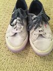 SUPERGA White Navy Blue  White Ombre Canvas Lace Up Sneakers Shoes Size 31