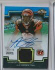 2011 Topps Triple Threads AJ Green jersey Auto RC #47 90 Bengals