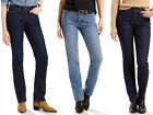 Womens Levi's 525 Perfect Waist Straight Leg Blue Jeans Size 4-16 Short
