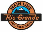 Rio Grande Railroad Sticker R4401 Main Line Rockies Train YOU CHOOSE SIZE