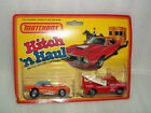 Matchbox Hitch n Haul Revin Rebel Dodge Challenger Tow Truck on Card
