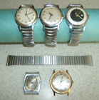 Vintage Men's Watches Lot - Kienzle Avalon Providence Timex for Parts or Repair