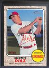 2017 Topps Heritage Red Real One Autograph #ROA-AD Aledmys Diaz No 54 of 68