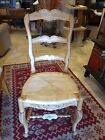 Set of 8 Rustic French Country Ladder Back Chairs