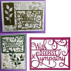 With Deepest Sympathy Metal Cutting Dies Stencil Scrapbook Embossing Paper Craft