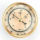 Barometer w/Ivory Dial and Brushed Gold Bezel