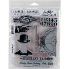 Stampers Anonymous CMS 267 Tim Holtz Cling Stamps 7X85 Dapper
