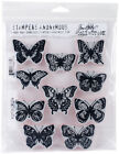 Stampers Anonymous CMS LG 294 Tim Holtz Cling Stamps 7X85 Flutter