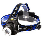 Headlamp,1800 Lumens Zoomable Waterproof LED head lamp flshlight , Hands-free