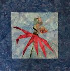 CONEFLOWER AND BUTTERFLY PAPER PIECED MINI QUILT TOP BLOCK SQUARE